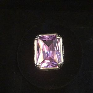 Jewelry - Silpada sterling silver ring with purple stone